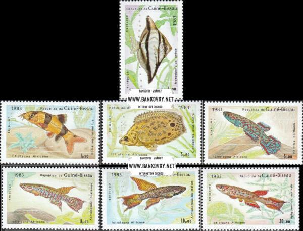 Známky Guinea Bissau 1983 Ryby, nerazítkovaná séria MNH