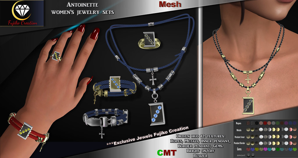 Antoinette Jewels sets with driven hud
