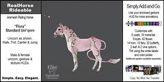 Elite Equestrian Animesh RealHorse Rideable Flora the Unicorn (Standard)
