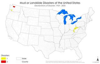 Declared Disasters - Mud or Landslide