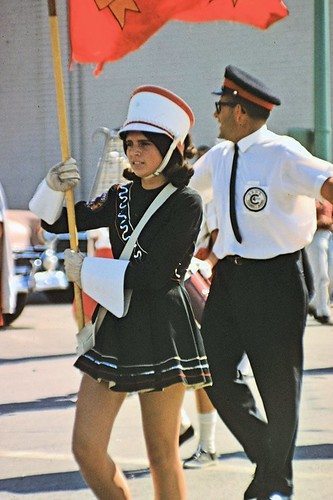 1967 George Hildebrand and Seaforth District High School Girls' Marching Band - new uniforms Dick Burgess