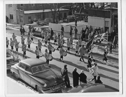 1960s winter band santa claus parade