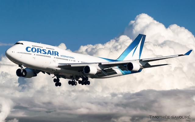 ORY | Corsair International Boeing 747-400 | F-GTUI