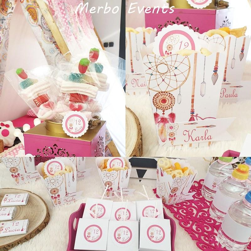 mesa dulce cumpleaños tipis merbo events