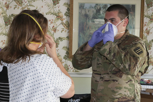 Va. National Guard personnel conduct N-95 mask fit testing