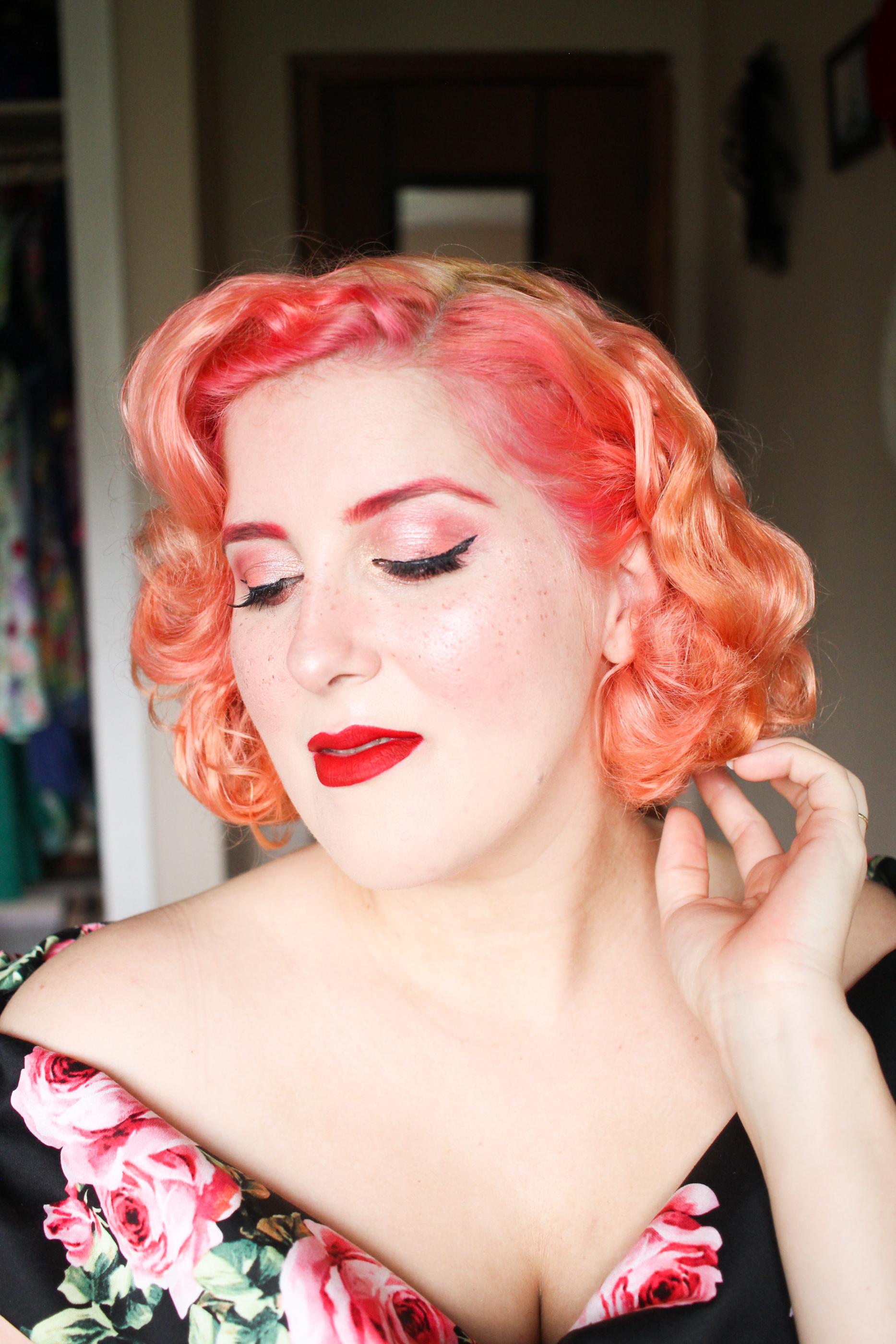 pastel peach hair dye