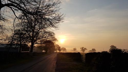 cumbria penrith landscape morningmist
