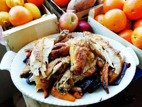 plat de poulet