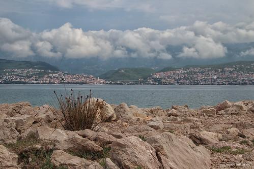 crikvenica stone rocks sea landscape shore coast sky clouds croatia hrvatska europe canon krk