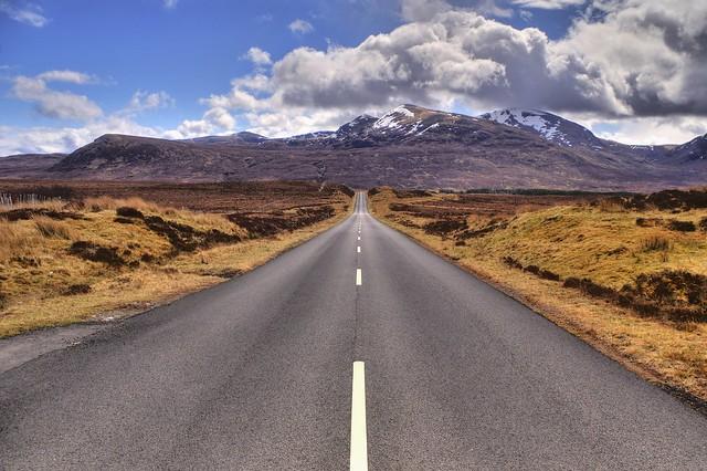 A832 road, Dundonell - Ullapool, Highland, Scotland, UK