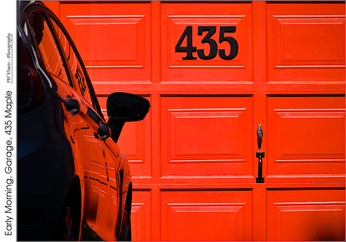 grimsby garage 435mapleave number 435 car reflection door orange black opensource rawtherapee gimp nikon d7100 afpdxnikkor70300mmnonvr