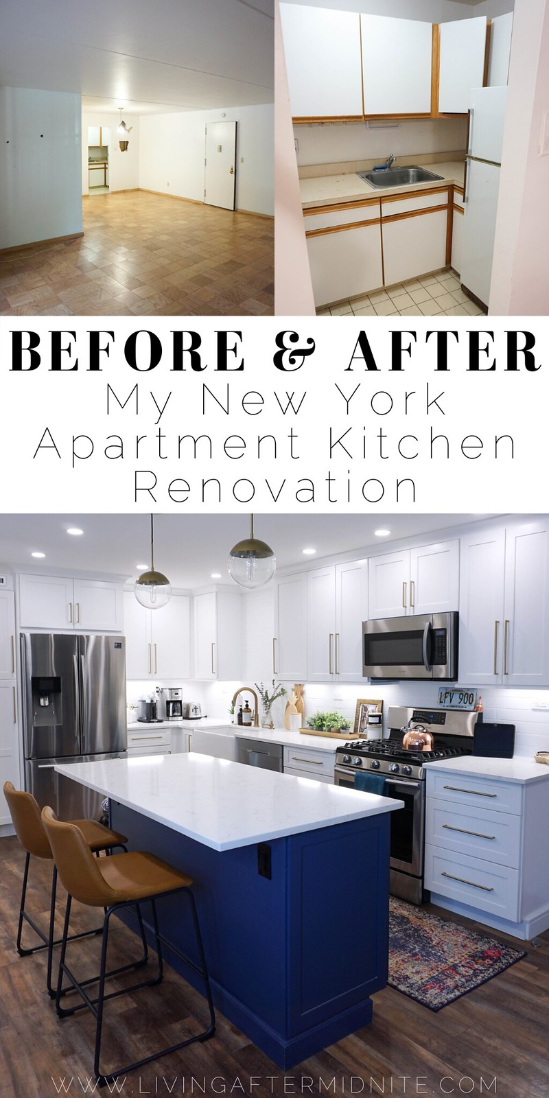 Before & After: My New York Apartment Kitchen Renovation | Living After Midnite Jackie Giardina