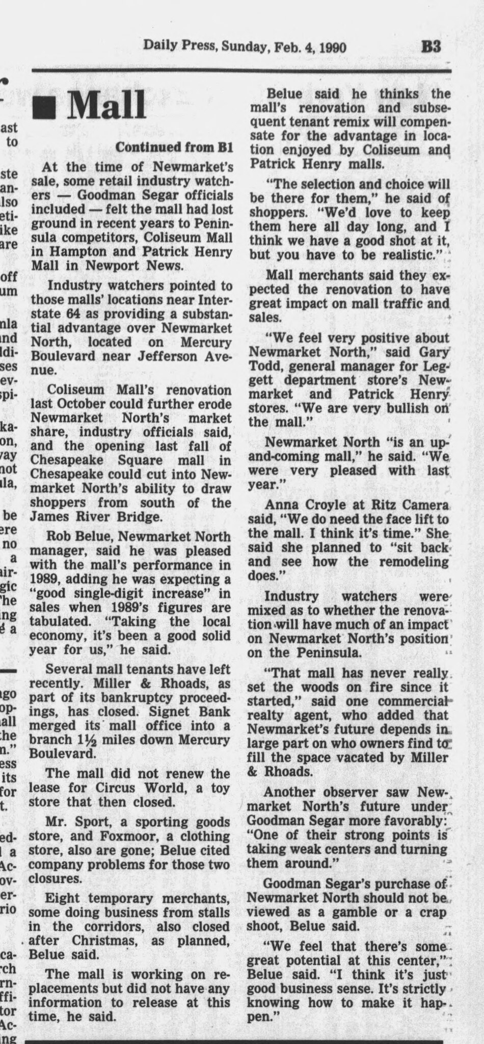new look for newmarket (2/4/1990)