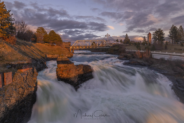 Spokane Falls Sunset