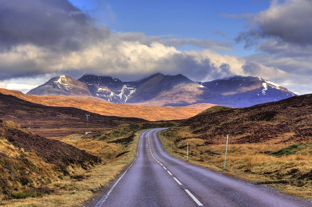 A832 road, Ullapool - Dundonell, Highland, Scotland, UK