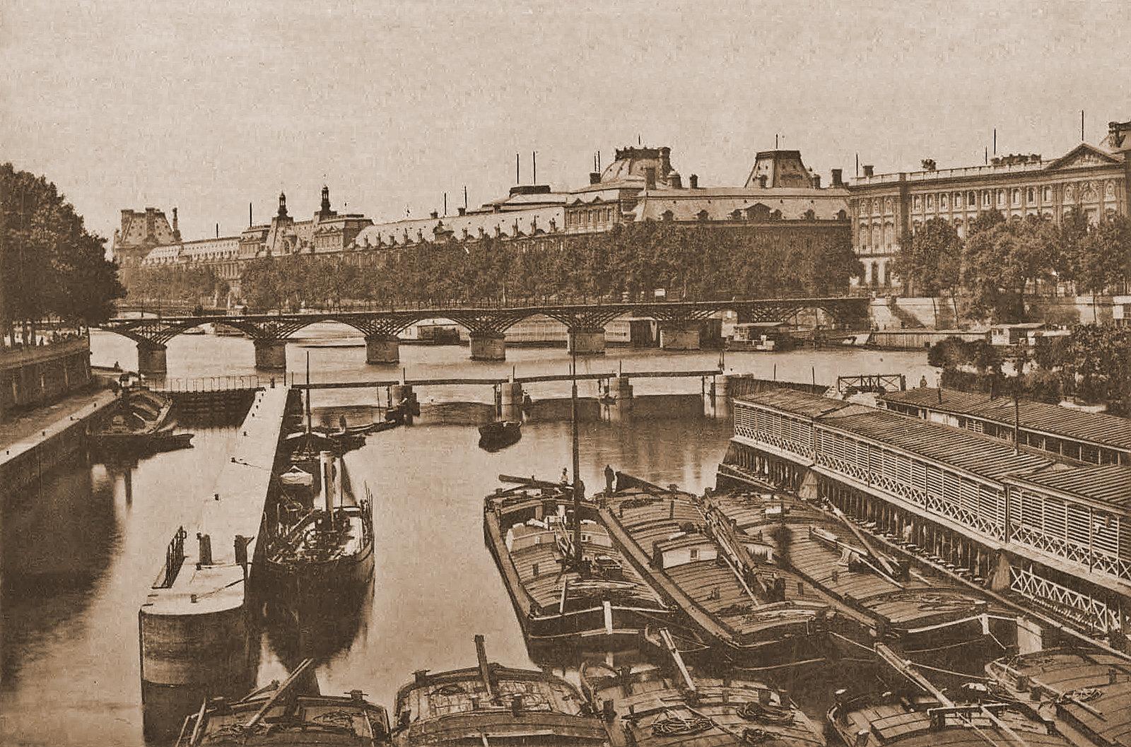 Paris ancien. L'écluse du Pont Neuf.