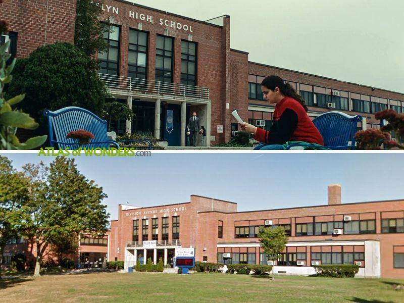 Roslyn High School filming scene with Rachel Rebekah Rombom