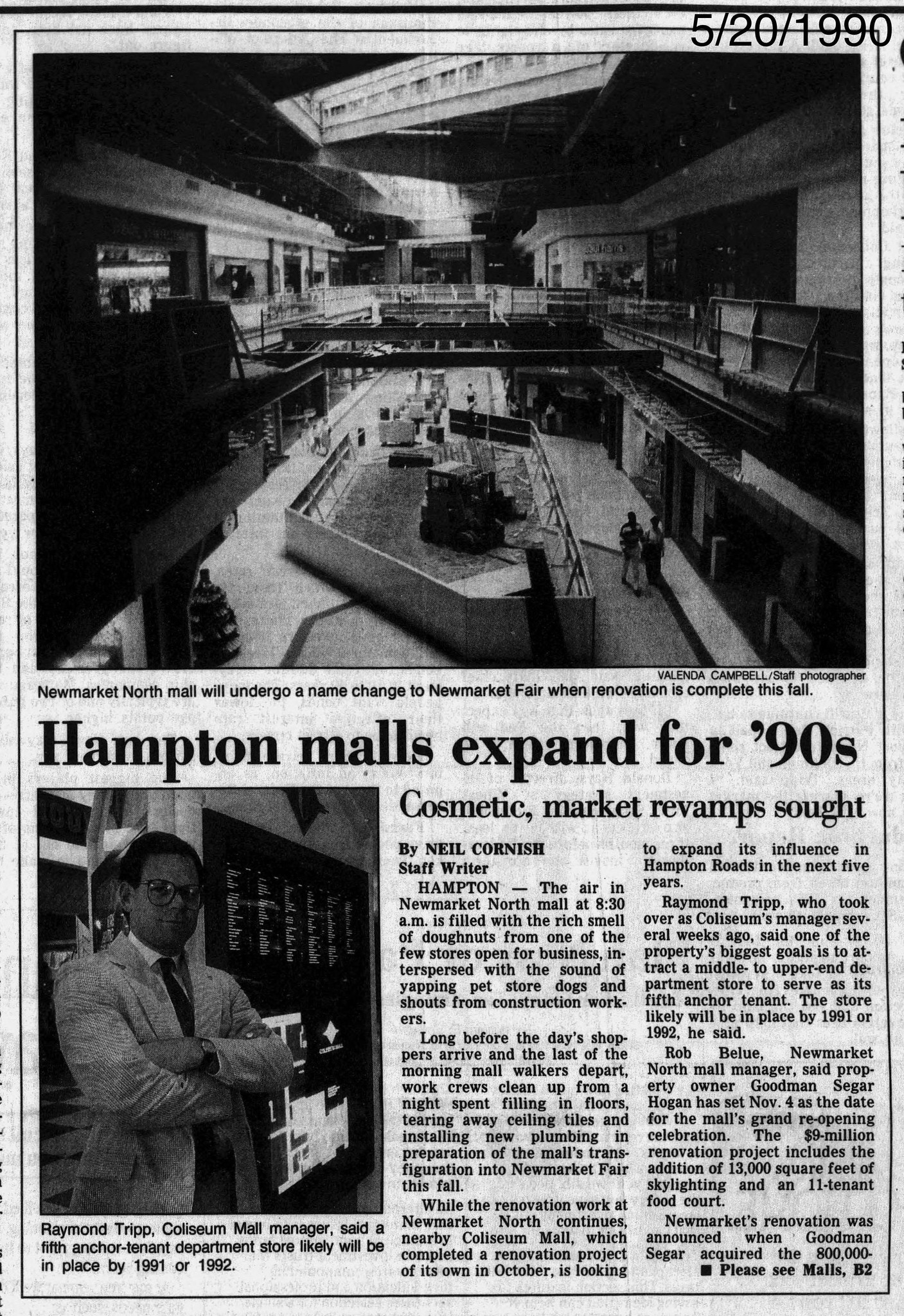 """Hampton Malls Expand For '90s"" {daily press, May 20, 1990}"