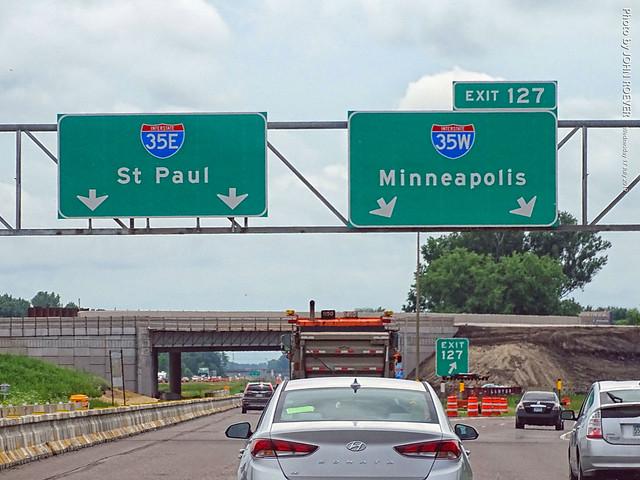 I-35E/I-35W Split, 17 July 2019