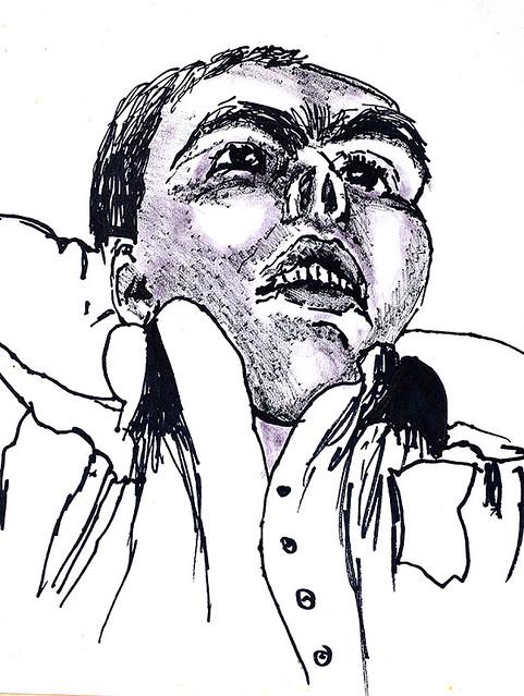 רישום דיוקן רישומי דיוקנאות רישומים רפי פרץ raphael perez drawings  הרישום  האקספרסיבי הדיוקנאות ברישום בדיוקן ברישומים בדיוקנאות דיו על נייר ברישומי אקספרסיביים