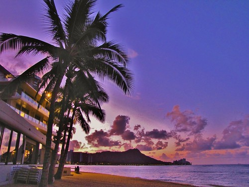 sunrise waikiki honolulu oahu hawaii usa