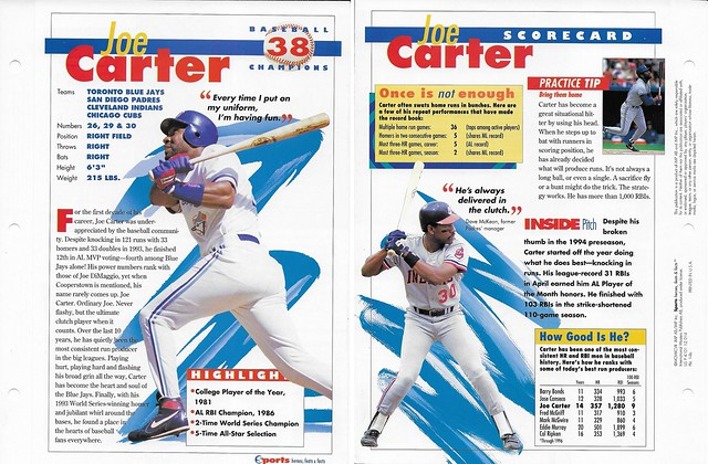 1997 joe carter baseball 14b