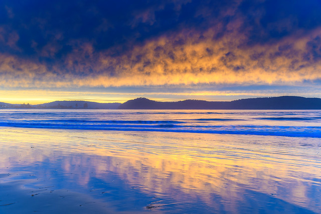 Stratocumulus Cloud Covered Sunrise Seascape