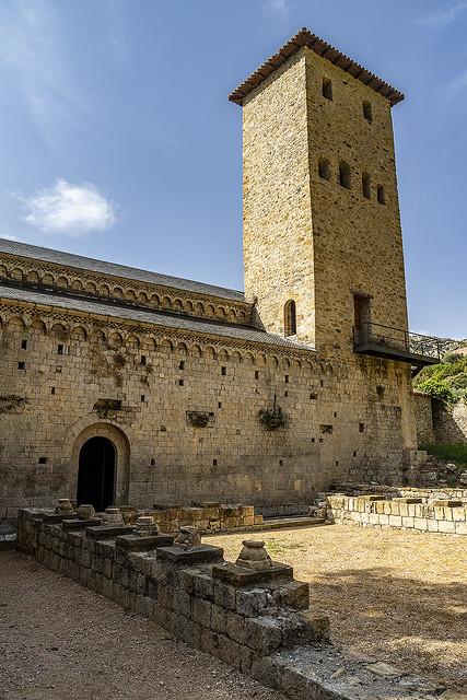 Monasterio de Alaón, torre campanario