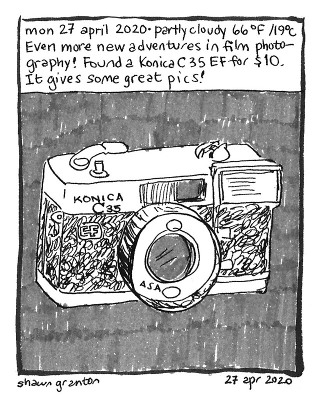 Journal Comic, 27 April 2020: New (to me) camera.