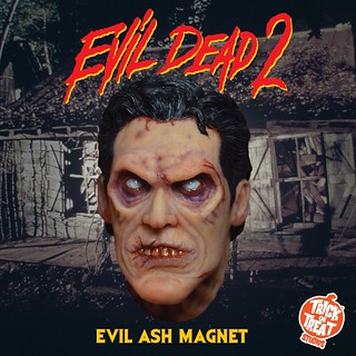 """GROOVY!!"" Trick or Treat Studios《鬼玩人》邪惡艾許磁鐵(Evil Dead II Evil Ash Magnet)獵奇登場!"