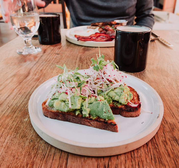 best avocado toast Palm Springs