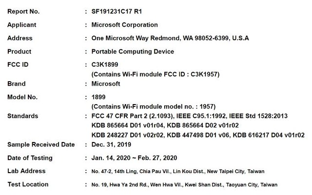 Microsoft FCC