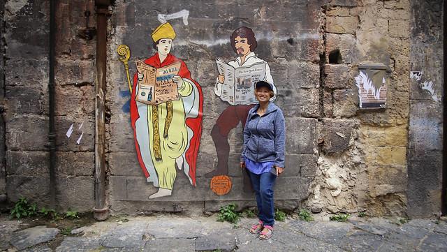 Kanitha next to San Gennaro en Caravaggio