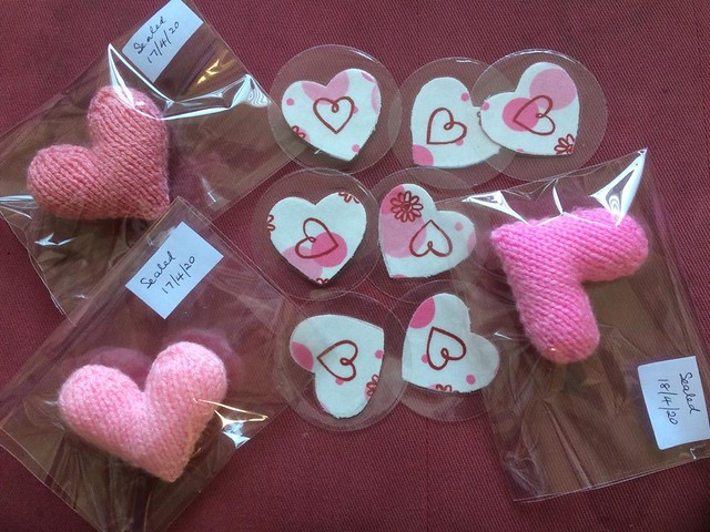Hearts for care home residents.