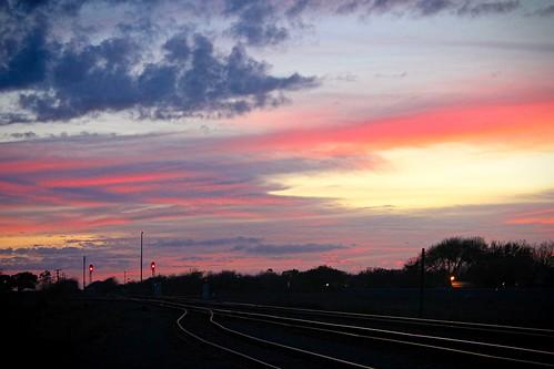 sunset tracks railroad bloomington texas
