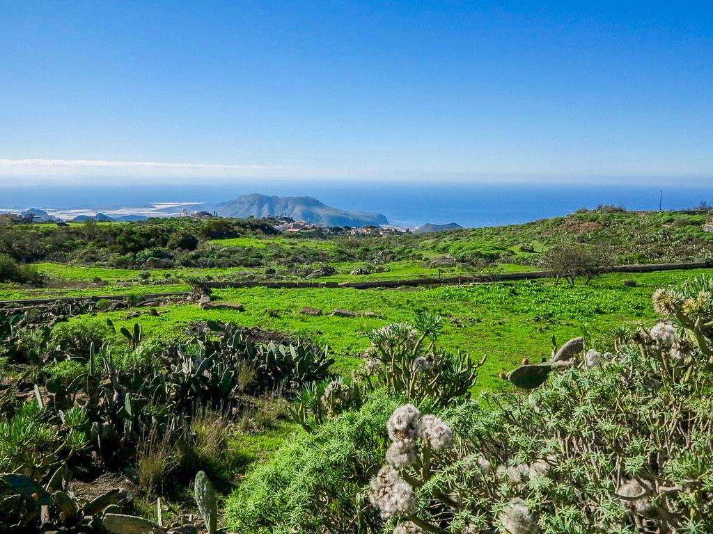 Vista de la costa sur de Tenerife