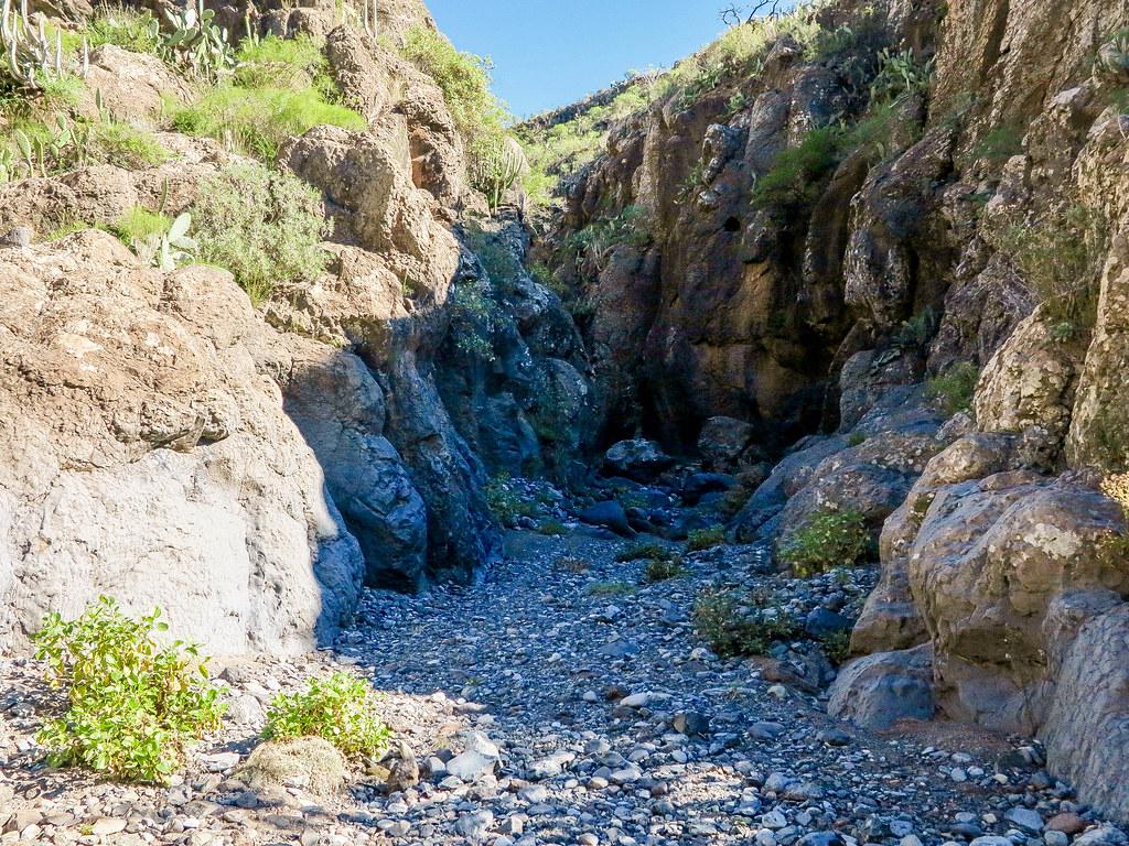 Barranco del Rey en el sur de Tenerife