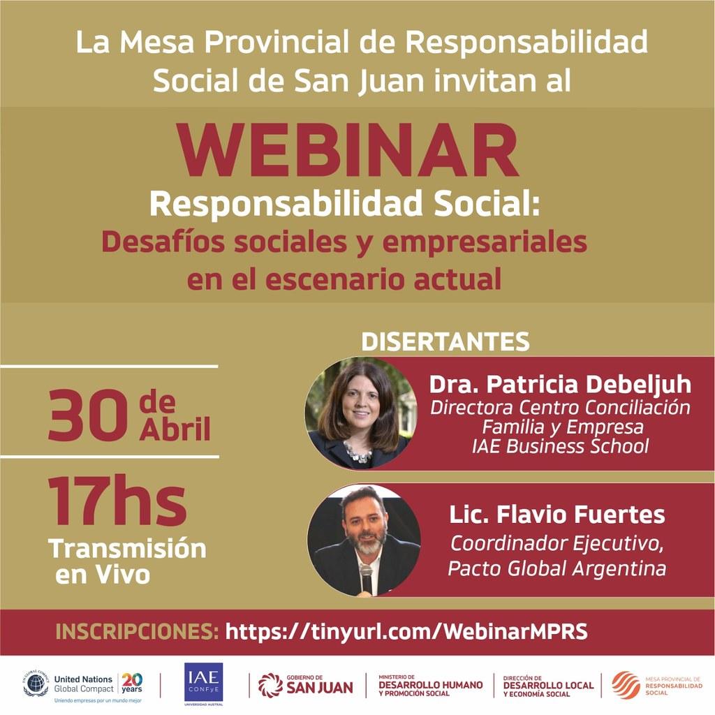 2020-04-28 DESARROLLO HUMANO: Webinar Mesa Responsabilidad Social