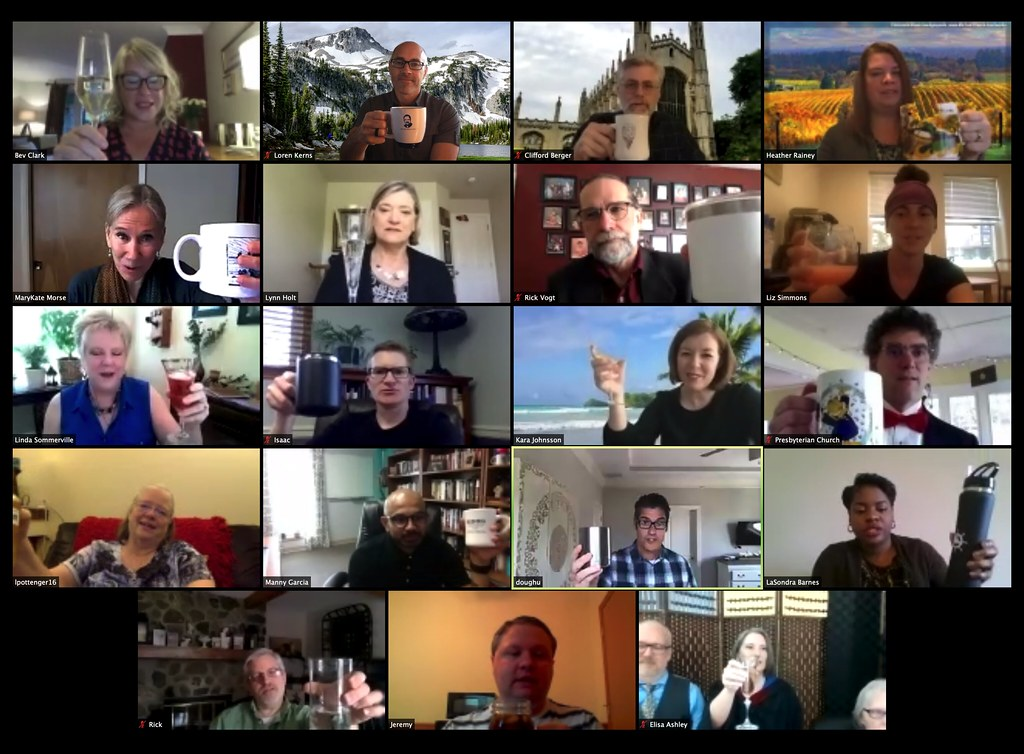 "Everyone toasts at the dminlsf3 virtual celebration: ""Because you say so, we will"""