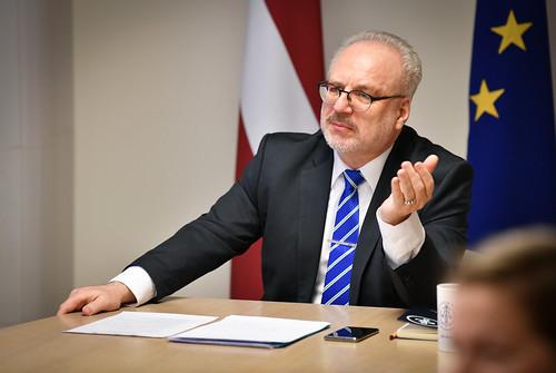 28.04.2020. Valsts prezidents Egils Levits piedalās Eiropas Savienības informācijas sniedzēju forumā
