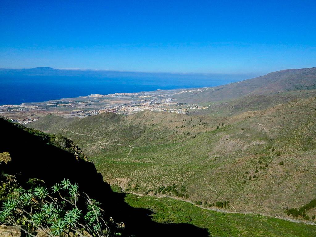 Vistas del sur de Tenerife desde sus senderos