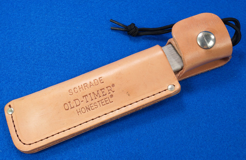 RD29529 Vintage Schrade Old Timer Honesteel with Leather Sheath with Paperwork DSC03134