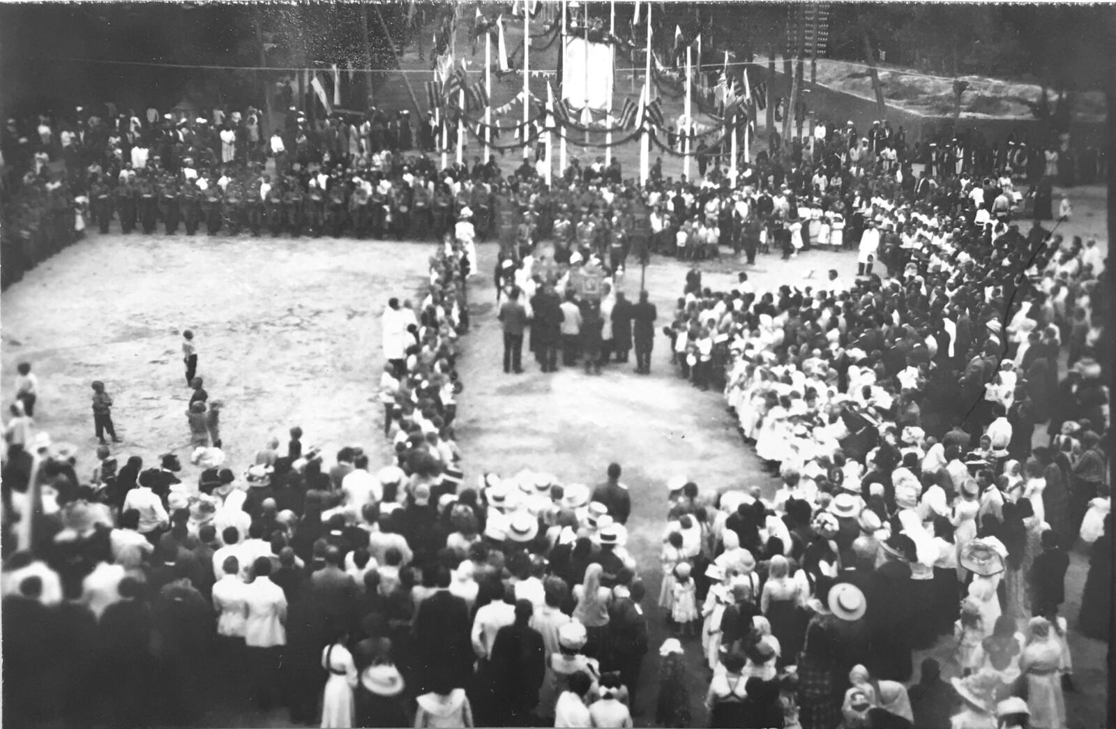 Торжественное празднование 100-летия победы в Отечественной войне 1812 года. Вид с колокольни