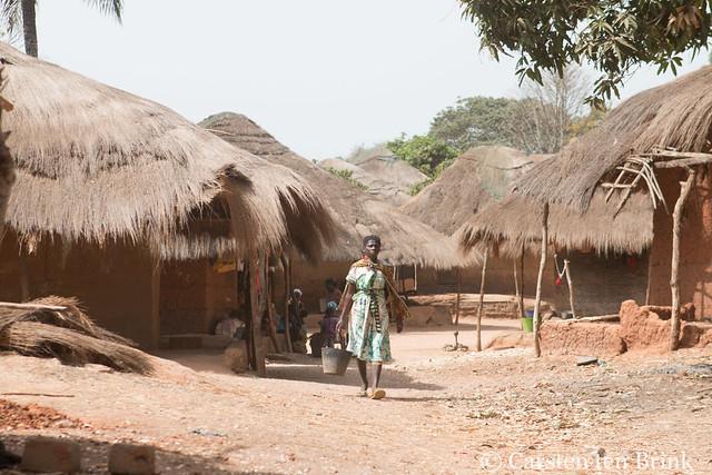 Guinea-Bissau village scene