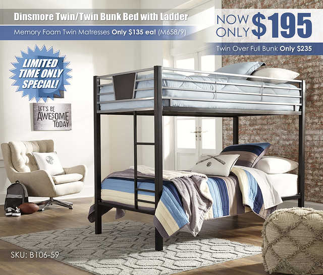 Dinsmore Twin over Twin Bunk Special_B106-59