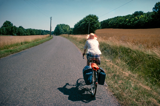 Touring Cyclist, Loire Valley x05loire