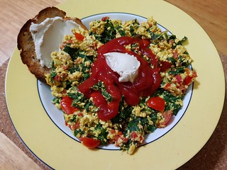 Scrambled Tofu and Cashew Cheese