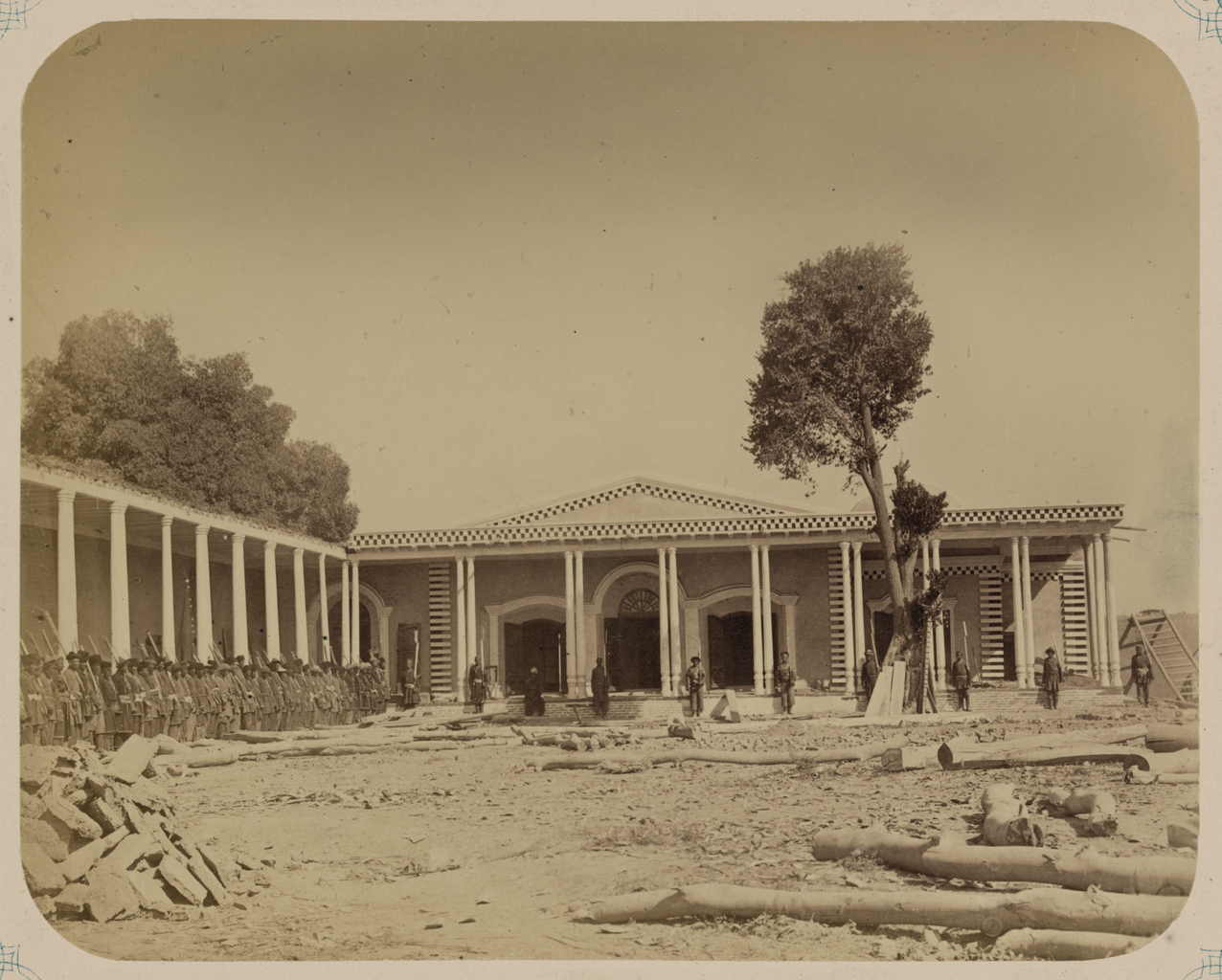 Строящийся дворец сына кокандского хана