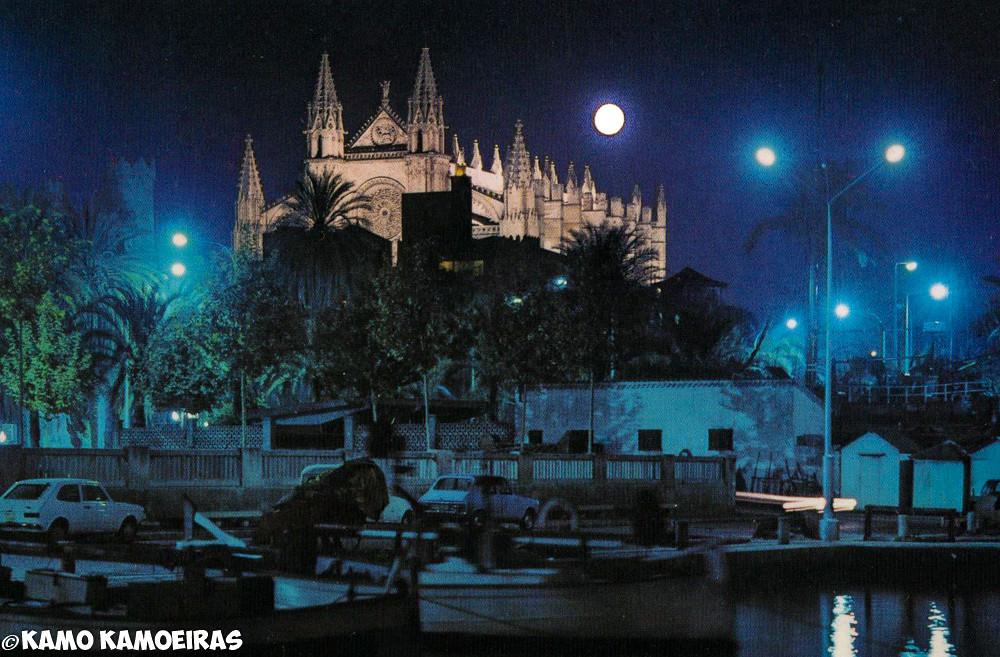 catedral de palma de mallorca nocturna, julio 2001