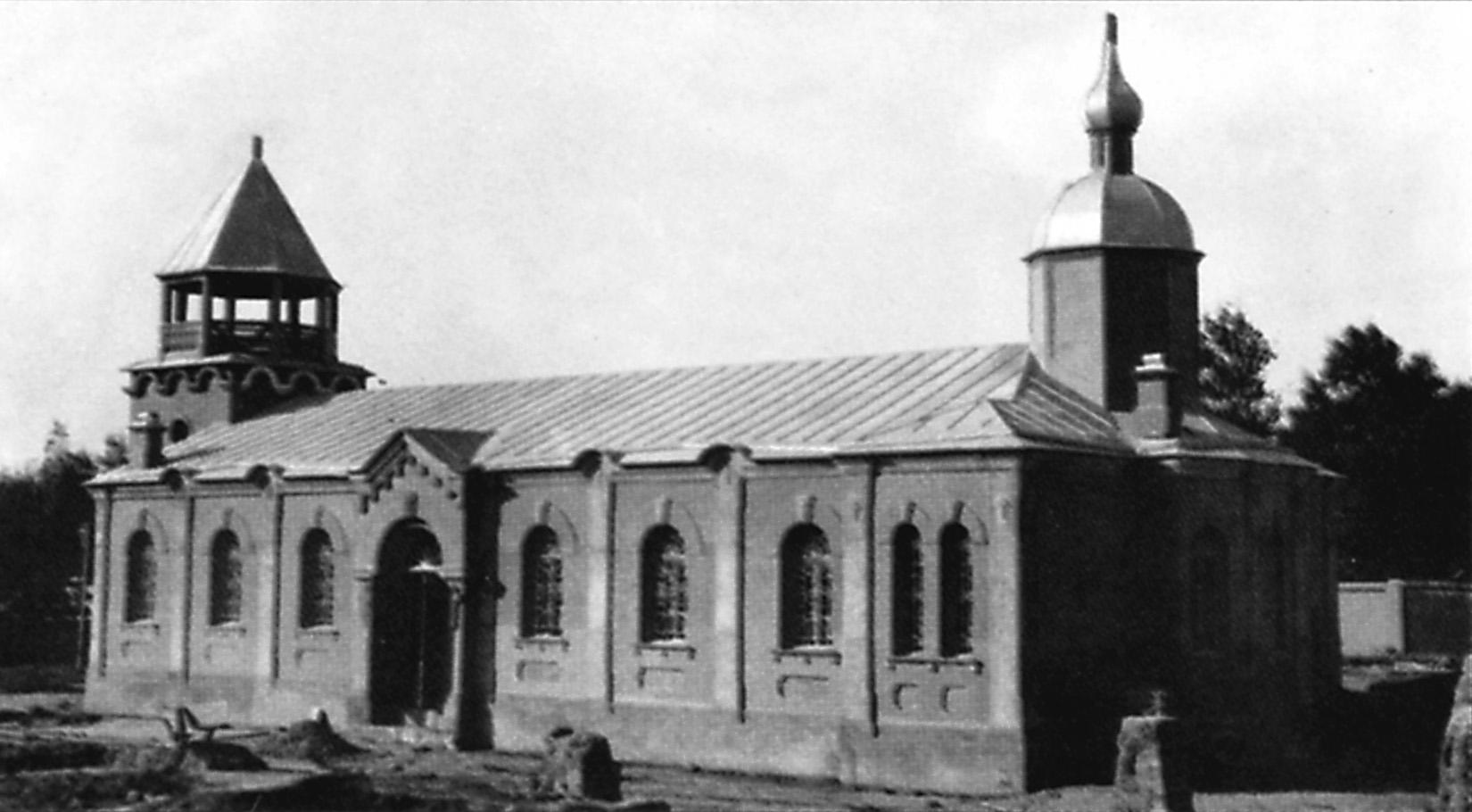 Строящаяся православная церковь в Андижане. Ноябрь 1913 года